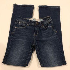 Justice Girls medium wash flare jeans